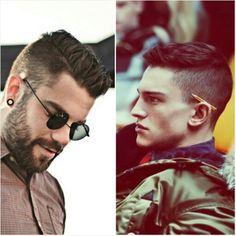 Men's hair cut. Short sides, longer on top.
