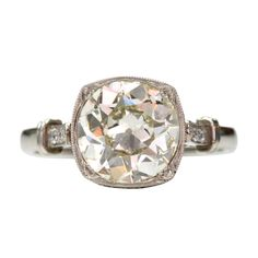 Vintage Inspired Old European Cut Diamond Engagement Ring by Single Stone