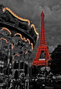paris black and white color effect