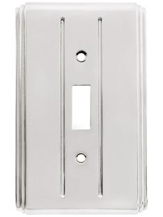 Streamline Deco Toggle Switch Plate - Single Gang