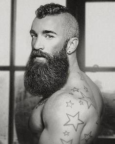 beard and stars