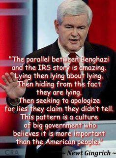LIES LIES LIES #Obama #Benghazi #IRS #AP #NewtGingrich