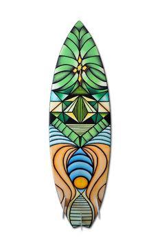 """Vivid"" by Curtis Wowk (( Surf Art using Posca Paint Pens )) www.curtiswowk.com"