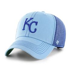 new concept 5d55c bf597 Kansas City Royals 47 Brand Trawler Columbia Blue Clean Up Adjustable Hat