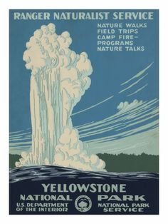 Yellowstone National Park, c.1938 Posters AllPosters.fi-sivustossa