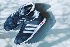 adidas Originals LA Trainer Engineered Mesh: Black/White