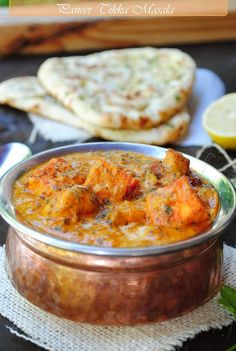 Paneer Tikka Masala with Naan...gonna try this...sounds yummy!