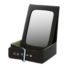 IKEA - BETRAKTA, Table mirror with storage, , Mirror that stands on the table and has a practical storage space for jewelry, hairspray and accessories.Can be folded to save space when not in use.Wipes clean.