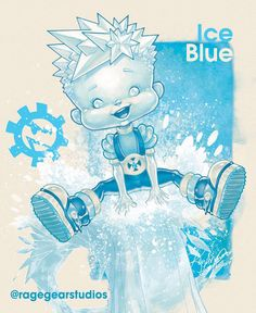 X-Men Superheroes Reimagined As Rainbow Brite Characters:  Ice Blue