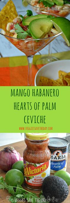 Mango Habanero Salsa Summer Recipes! Enter LA VICTORIA® Brand's GIVEAWAY on Instagram or Facebook for your chance to WIN a $500 four-burner gas grill. (sponsored)  Try this easy Mango Habanero Hearts of Palm Ceviche this summer with sweet and spicy LA VICTORIA® Brand Mango Habanero Salsa. Learn more by visiting http://www.veggiessavetheday.com, or pin and save for later!
