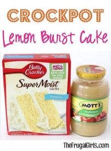 Crockpot Lemon Burst Cake