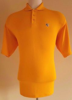UNDER Armour MENS Polo SHIRT Large YELLOW Logo VC Performance GOLF L Sz SIZE Man #UnderArmour #PoloRugby