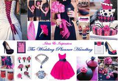 Navy and Cerise Wedding Theme www.weddingplannerhandbag.co.uk https://www.facebook.com/pages/The-Wedding-Planner-Handbag/184675768316370