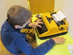 Today one of the most fascinating interactivities in museums: a simple typewriter