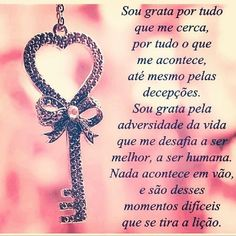 Sou grata por tudo que me More Than Words, Some Words, He Is Lord, L Quotes, Christmas Embroidery Patterns, Positive Thoughts, Positive Quotes, Self Help, Family Love
