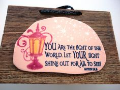 Scripture Wall Art Plaque  You are the Light of the by WordofGod, $12.75