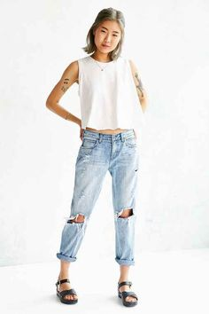SkarGorn Home Jean - So Busted- Tinted Denim