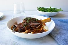 Lamb Shanks with Red Wine Sauce recipe Best Slow Cooker, Slow Cooker Recipes, Lamb Recipes, Sauce Recipes, Chicken Stock Gravy, Lamb Shanks Slow Cooker, Easy Easter Recipes, Lamb Curry, Taste Made