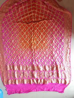 Bandhani Saree, Saris, Blanket, Crochet, Sarees, Saree, Ganchillo, Blankets, Cover