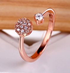 My Love From Another Star / You Came From Engagement Ring. The same ring Do Min Joon give to Cheon Song Yi Price : Material : 925 sterling silver plated rose gold Size : 16 Jewelry Box, Jewelery, Jewelry Accessories, My Love From Another Star, Korean Jewelry, Expensive Shoes, Star Ring, Gifts For Him, Asian Fever