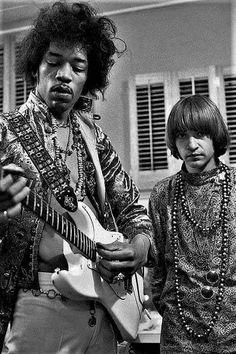 Jimi Hendrix and Rodney Bingenheimer