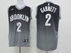 2a3302c75 Men s NBA Brooklyn Nets  2 Garnett Fading Jersey Nets Jersey