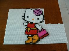 Hello Kitty hama beads by mamypapou
