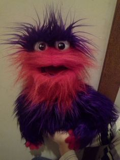 Furry monster puppet by JoyFilledPuppets on Etsy, $85.00