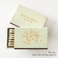 LIGHT of MY LIFE: Personalized Match Boxes by PicturePerfectPapier