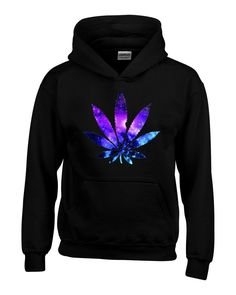 Marijuana Leaf GALAXY Hoodies #61367 Weed Smokers Hoodies - Available in different colors
