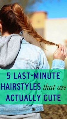 5-Minute Hairstyles That Are Actually Cute