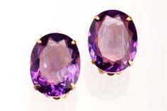 amethyst bounkit earrings