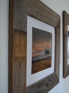 Old, weathered fence slats turned farmhouse chic frames!