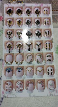 Super Ideas For Nails Pink Desing Art Tutorials Rhinestone Nails, Bling Nails, Pink Nail Designs, Acrylic Nail Designs, Stylish Nails, Trendy Nails, Indian Nails, Acylic Nails, Nail Salon Design