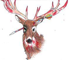 Zombie Deer. by ~KeitiBlackWhiteWolf on deviantART