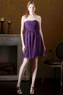 ブライズメイド 膝丈ドレス 7429 アメジスト ゲストドレスや、パーティードレスとしても