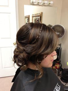 Prom hair- messy updo