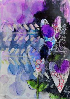 Dina Wakley - Hearts 01