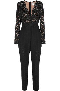 Lanvin|Guipure lace jumpsuit|NET-A-PORTER.COM