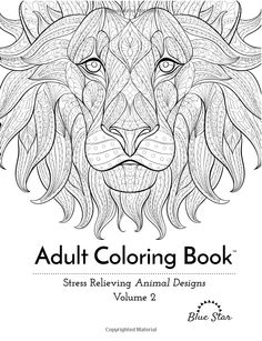 Adult Coloring Book Stress Relieving Animal Designs Volume 2 Amazoncouk