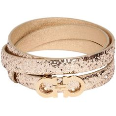 SALVATORE FERRAGAMO 15mm Gancini Glitter On Leather Belt ($262) ❤ liked on Polyvore featuring accessories, belts, adjustable leather belt, salvatore ferragamo, metal belt, adjustable belt and leather belt