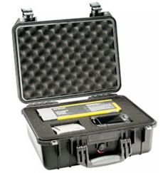 Spacious Medium Peli 1450 Case. The Peli 1450 case is a spacious medium sized waterproof case which can be used in a variety of indoor and outdoor environments.