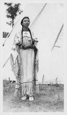 Assiniboine woman - circa 1935                              …                                                                                                                                                     More