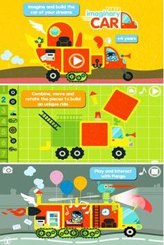 A great app for imagination and creativity - Pango Imaginary Car #kidsapps #apps #imagination #creativity #education