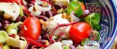 Recept Výborný salát s fazolkami Caprese Salad, Fruit Salad, Cobb Salad, Recipe Search, Naan, Mozzarella, Baked Potato, Potato Salad, Food And Drink