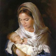 Mary and Jesus. Peace upon them and Muhammad. Would Jesus be God in arms of his mother! Blessed Mother Mary, Divine Mother, Blessed Virgin Mary, Pictures Of Christ, Religious Pictures, Catholic Art, Religious Art, Image Jesus, Jesus E Maria