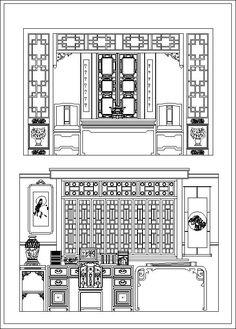 chinese screen cad drawings download cad blocks urban city