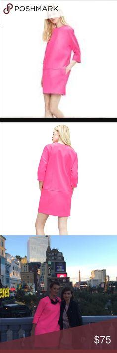Banana Republic neon pink dress Super chic and stylish dress, size 6 but runs big, i would say 8, looks amazing, worn twice. Banana Republic Dresses Long Sleeve