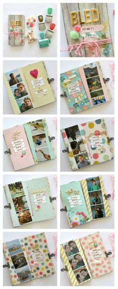 "My Mind's Eye Now and Then Dorothy 6""x3"" mini album"