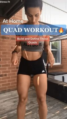 Fitness Workouts, Gym Workout Videos, Gym Workout For Beginners, Fitness Workout For Women, Fitness Goals, Fitness Motivation, Body Fitness, Quad Workouts At Home, Fast Ab Workouts